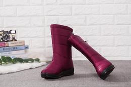 Lady Snow Boots Mid Calf Australia - Winter Women Boots Mid-Calf Down Boots Girls Winter Shoes Woman Plush Insole Botas Female Waterproof Ladies Snow Boots