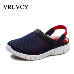 $enCountryForm.capitalKeyWord Australia - Unisex Casual Sandals Shoes Fashion Breathable Mesh Shoes Summer Men Sandals Cheap Men Slippers Beach Walking