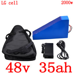li ion mobile battery Canada - 1000W 2000W 48V Li-ion Battery Pack 48V 35AH 48V battery ebike scooter Electric battery use LG mobile phone with charger BMS + 5A 50A