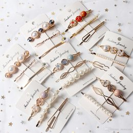 $enCountryForm.capitalKeyWord NZ - 3pcs Set Women Girls Vintage Pearl Hair Clip Barrette Crystal Bobby Pin Hairpin Clamps Party Hair Jewelry Accessories