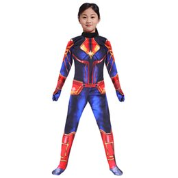 $enCountryForm.capitalKeyWord Australia - The avengers Captain Marvel Carol Danvers Ms Marvel Costumes Catsuit Tracksuit cosplay 3D Printed slim rompers jumpsuit clothes AAA1945