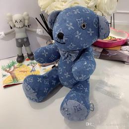 Recién llegado de peluche de juguete oso grande Denim pareja oso muñeca abrazo oso niños niña cumpleaños niños regalo de Navidad en venta