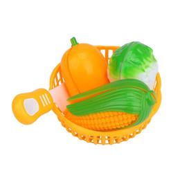 cut fruit toys 2019 - New Kids Children Educational Simulation Realistic Fruit Vegetables Cutting Play Educational Toys cheap cut fruit toys