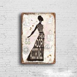 Ingrosso Vendita calda Crown Lady Retro Vintage Metal Tin sign poster Vecchia parete Metal Plaque Club Wall Home art metallo Pittura Decorazione della parete