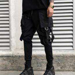 842a62ef9 Men personality punk hiphop harem pants nightclub singer stage costume  trousers men hip hop ribbons cargo joggers streetwear