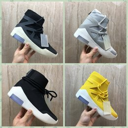 Wholesale NFOGAA Newest Fear of God Men Shoes FOG Boots Light Bone Black Sail casual Shoes Men white grey black casual shoes