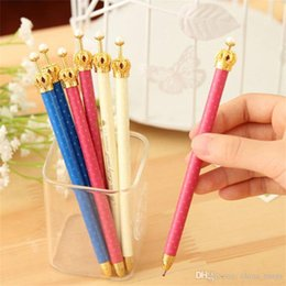 $enCountryForm.capitalKeyWord Australia - 2018 New Cute Crown Style Ballpoint Pens Office and School Pen for Kids Children Students and Office Ball pen