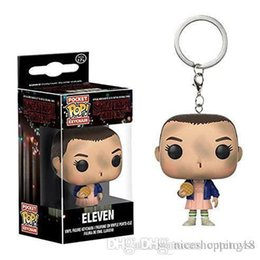 $enCountryForm.capitalKeyWord Australia - Pretty Discout Funko Pocket POP Keychain - Stranger Things Eleven with Short Hair Vinyl Figure Keyring with Box Toy Gift Good Quality 574