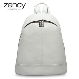styles backpacks Australia - Zency 100% Genuine Leather Fashion Women Backpack Preppy Style Girl's Schoolbag Black Holiday Knapsack Lady Casual Travel Bag Y19061102