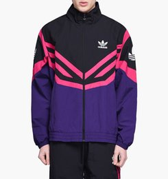 Casual Coat designs for men online shopping - Brand Windbreaker for Men Designer Jackets Coat Zip Hoodies Thin Sports Outerwear Street Hiphop Casual White Purple Light Weight B100042L