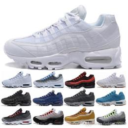 Опт Drop доставка Оптовая кроссовки мужчины подушка 95 OG кроссовки сапоги аутентичные 95s новый ходьба скидка спортивная обувь размер 36-45