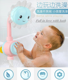 toys boats NZ - Baby Bath Toy Fun Sunflower Baby Infantil Shower Faucet Spout Baby Bath Spout Babies Play Swimming Bathroom Toys Summer Bathing