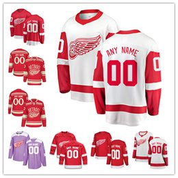 e061f91b15e 2019 Custom Mens Women Toddlers Detroit Red Wings Jersey Ice Hockey Jersey  Fanatics Branded Tyler Bertuzzi Gordie Howe Niklas Kronwall