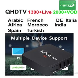 android live tv box UK - MXQ pro with 1Year QHDTV france programs arabic European Live smart tv device android box 1GB ram 8GB rom MXQpro QHDTV subscription code