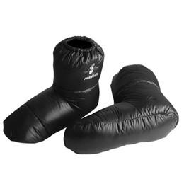 sleeping bag duck 2019 - Waterproof Booties Duck Down SocksSleeping Bag Slippers Ultralight Camping Accessaries Indoor Warm Soft Socks M L Size c