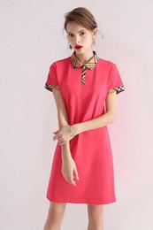 English Dresses NZ - stripe Plaid short-sleeved cotton classic long skirt English style 2019 summer new thin women's dress casual fashion brand 28