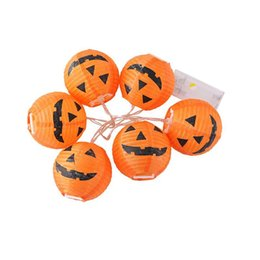 pattern batteries Australia - LED Battery Box Lamp String Halloween Party Decoration Pumpkin Lantern Ghost Face Pattern Decorative Light Hot Selling 10bz L1