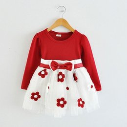 Cotton Newborn Gowns Australia - Summer Babe Girl Floral Tutu long-sleeves Flower Gown for Toddler Baby Girls Little Princess Newborn Birthday Holiday Party Wear