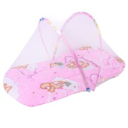tent baby mosquito NZ - Portable Folding Baby Bedding Crib Netting Baby Mosquito Nets Bed Mattress Pillow Suit For Children Tent Cradle Bed Set