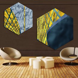 $enCountryForm.capitalKeyWord NZ - Home Decor Prints Painting Nordic Hexagon Abstract Lines Pictures Wall Art Modular Canvas Poster Modern Bedside Background