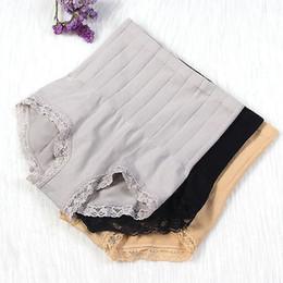 hot shaper abdomen 2019 - Breathable Body Waist Abdomen Postpartum Control High Waist Tummy Shaper Briefs Slimming Lace Panties Hot cheap hot shap