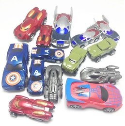 Pull Back Toys Australia - boxed simulation cartoon small car Simulation car model toy children's toys wholesale Avengers pull back car set