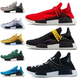 675b31680 Human Race Trail Running Shoes Mens Women Pharrell Williams HU Runner  Yellow Black White Red Green Grey Blue Sports Sneakers 5-12