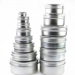 $enCountryForm.capitalKeyWord NZ - 150ml Aluminum Jar Empty Aluminum Cosmetic Containers Pot Lip Balm Jar Tin For Cream Ointment Hand Cream Packaging Aluminum Box 150pcs