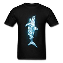 Chinese  Sunken Treasure Men T-shirt Skeleton Shark T Shirt Pirate Skull Tshirt Sea Adventure Clothing Awesome Design Tops Tees manufacturers