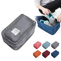 $enCountryForm.capitalKeyWord NZ - Convenient Travel Storage Bag Nylon 6 Colors Portable Organizer Bags Shoe Sorting Pouch Multifunction