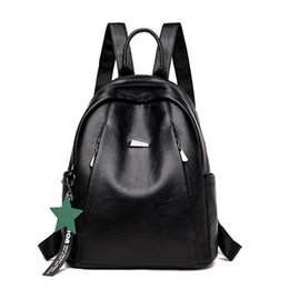 Women Backpack Leather College Preppy Students School Backpacks Schoolbags  For Teenagers Girls Female Daily Travel Shoulder Bag 48f5a0453dc1e
