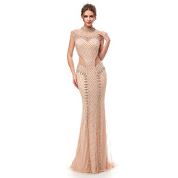 b0b7a1d00c515 Elegant Arabic Beaded In Stock Prom Dresses Short Sleeves 2019 With Cape  Backless Formal Evening Gowns 2015 Kftan Red Carpet Party Dresses