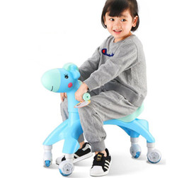 $enCountryForm.capitalKeyWord Australia - Cartoon Deer Kids Four Wheels Scooter Balance Bike Baby Walker Ride On Toys For Children Toddler Girls Boys