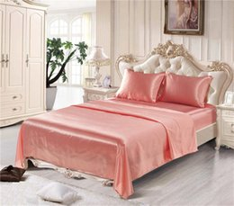 $enCountryForm.capitalKeyWord Australia - Luxury 7 Colors US Size Artificial Silk Household Bedding Sets Bed Sheets Queen Bedding Sets King Size Comforter Set