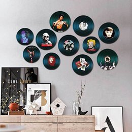small animal house 2019 - American Round Vintage Vinyl Record Wall Decor Home Restaurant Bar House Living Room Decoration Rich Texture Wood Painti