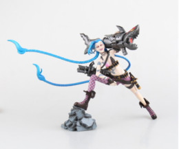 China wholesale With Box League Legends Lord of Run away loli Jinx Game PVC lol Action Figure Collectible Model Toy Doll Creative Gift 23cm supplier league legends toys suppliers