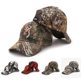 b66eb211b4dc35 Outdoor Browning Cap Camo Baseball Cap Fishing Men Jungle Hunting  Camouflage Caps Hat Tactical Hiking Casquette Hats