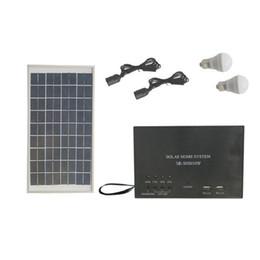 6v lithium batteries online shopping - 10W AH Portable DC Solar Lighting System W Solar Panel AH Lithium Battery Solar System Home Kit With Bulbs