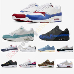 ShoeS for girlS Size 36 online shopping - 2019 DLX Atmos White Blue Red Running Shoes For Men Women s Parra Black Blue Leopard Trainers s Athletic Sports Sneakers Size