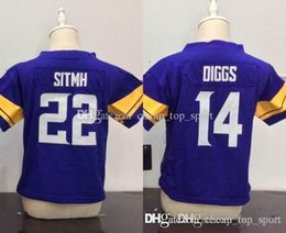 Children embroidery online shopping - Toddler Baby Stitched Minnesota Harrison Smith Stefon Diggs Purple Infant Children Vikings Jersey Preschool Kids Embroidery Logos Jers
