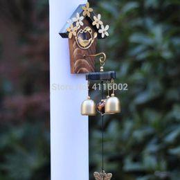$enCountryForm.capitalKeyWord Australia - 30pcs Copper Bird Nest Wind Chimes Antique House Decoration Windchimes Luxurious Retro Wall Hanging Decoration Gift