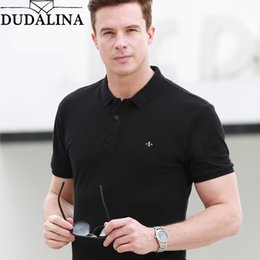dudalina clothing Canada - Dudalina Brand Shirt Men High Quality New Polo Shirts Business Men's Clothing Embroidery Homme SH190718