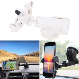 Gps naviGator holder online shopping - 360 Rotation Holder for Phone in Car Auto Long Lever Windshield Suction Cup Stand Support Mount Bracket for Mobile GPS Navigator