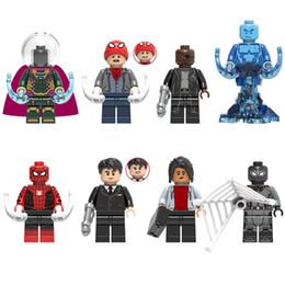 $enCountryForm.capitalKeyWord Australia - Avengers Super Hero Mysterio Peter Parker Nick Fury Hydro-Man Spider Man Happy Hogan Michel Jones Mini Toy Figure Building Block Toy For Ki
