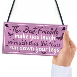 Keepsake Christmas Gifts NZ - Best Friend Birthday Gift THANK YOU Hanging Chic Plaque Sign Friendship Christmas Keepsake