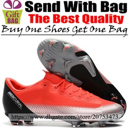 $enCountryForm.capitalKeyWord Australia - New CR7 Leather Soccer Shoes Boots Cristiano Ronaldo Mercurial Vapors XII Pro FG Football Shoes Outdoor Low Soccer Cleats Red Silver Black