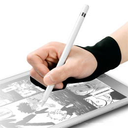 touch drawing tablet 2019 - 2PCS=1Pair Professional Two Finger Gloves Touch Anti-missing Flat Anti-sweat Paintings Gloves Artist Drawing Pen Graphic