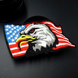 $enCountryForm.capitalKeyWord NZ - Eagle Size:5.1x9.0cm Embroidered Patch for Clothing Iron on Sew Applique Cute Fabric Clothes Shoes Bags DIY Decoration Patches