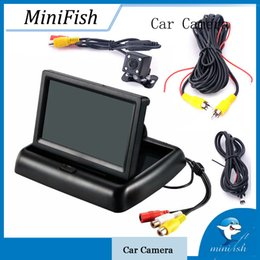 Discount foldable display - 4.3 inch HD Foldable Car Rear View Monitor Car Reverse Camera Display with Night Vision Backup Rearview Camera