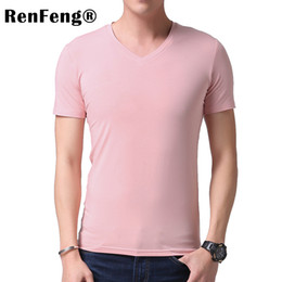 Black Blank T Shirts NZ - T Solid Bamboo Viscose High Quality Slim Casual Brand Blank White Black Tracksuit Underwear T-shirt Men Under Shirt Q190530